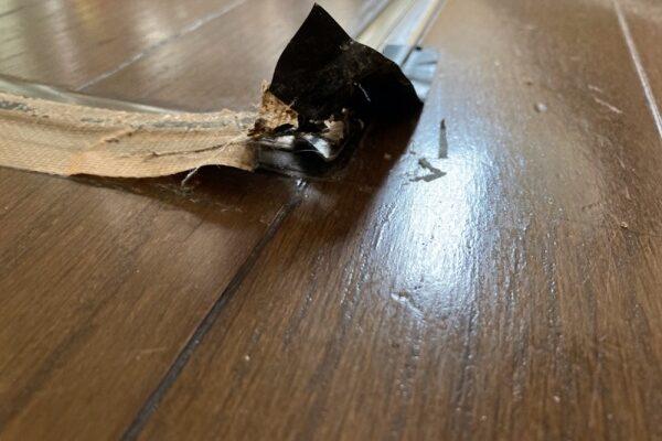 床下収納庫 蓋 補修